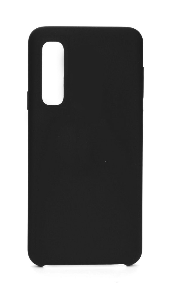 POWERTECH Θήκη Silicon Velvet MOB-1231 για Huawei P30, μαύρη - POWERTECH 23514
