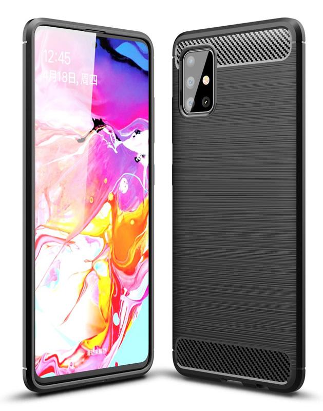 POWERTECH Θήκη Carbon Flex MOB-1492 για Samsung A71, μαύρη - POWERTECH 31071