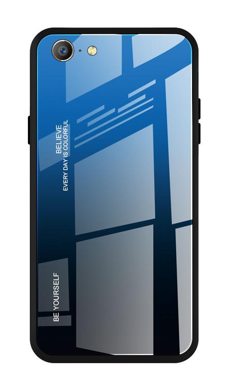 POWERTECH Θήκη Aurora Glass MOB-1498 για iPhone SE 2020, μαύρη-μπλε - POWERTECH 31077