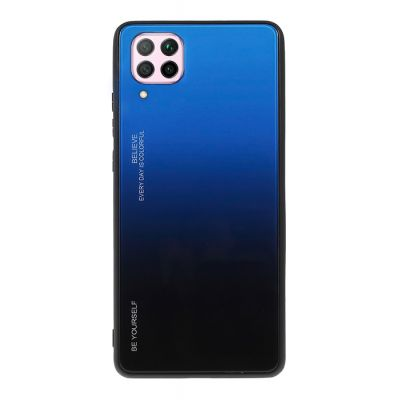 POWERTECH Θήκη Aurora Glass MOB-1499 για Huawei P40 Lite, μαύρη-μπλε - POWERTECH 31078