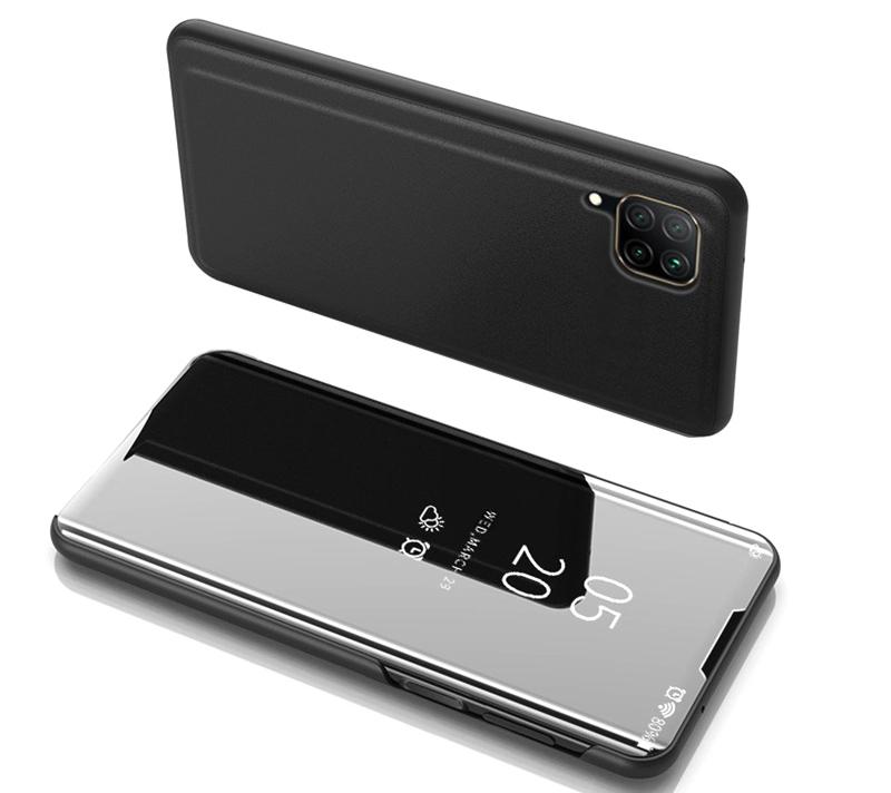 POWERTECH θήκη Clear view MOB-1502 για Huawei P40 Lite, μαύρη - POWERTECH 31081