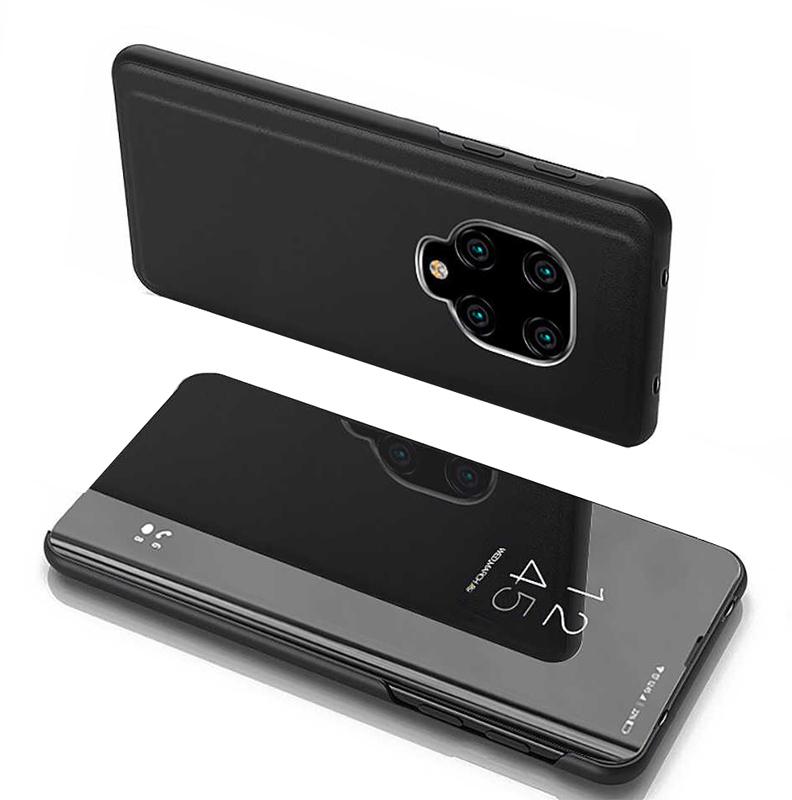 POWERTECH θήκη Clear view MOB-1503, Xiaomi Note 9s/9Pro/9 Pro Max, μαύρη - POWERTECH 31082