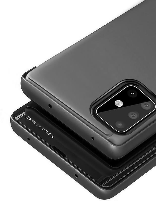 POWERTECH θήκη Clear view MOB-1505, Samsung A51, μαύρη - POWERTECH 31583
