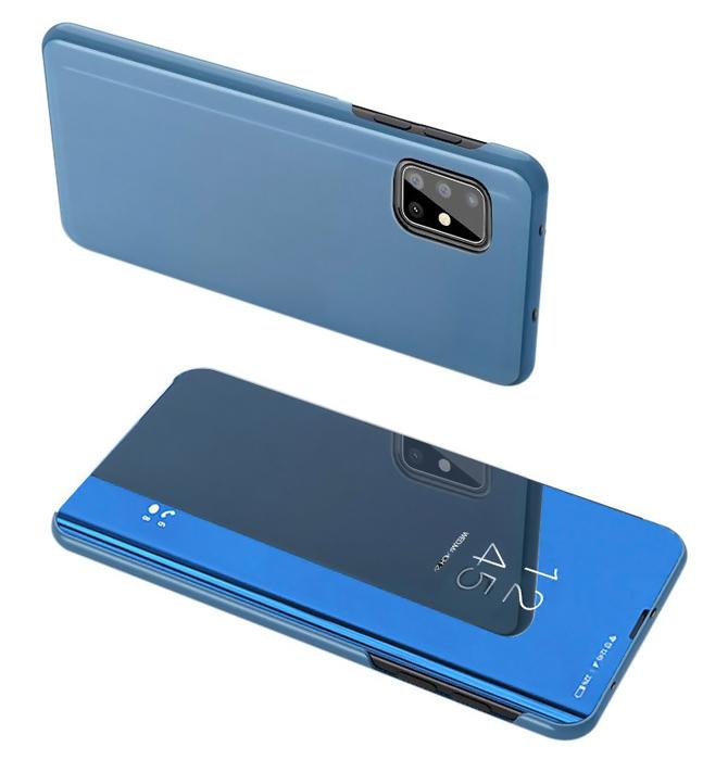 POWERTECH θήκη Clear view MOB-1507, Samsung A71, μπλε - POWERTECH 31585