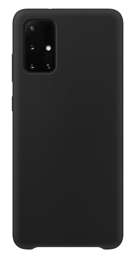 POWERTECH Θήκη Silicone velvet MOB-1528, Samsung A71, μαύρη - POWERTECH 31606
