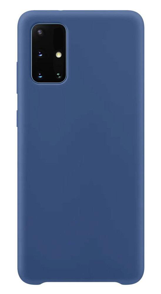 POWERTECH Θήκη Silicone velvet MOB-1529, Samsung A71, μπλε - POWERTECH 31607