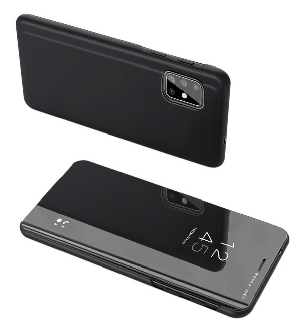 POWERTECH θήκη Clear view MOB-1536 για Samsung A71 5G, μαύρο - POWERTECH 31829