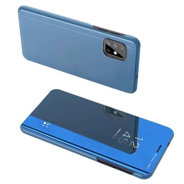 POWERTECH θήκη Clear view MOB-1537 για Samsung A71 5G, μπλε - POWERTECH 31830