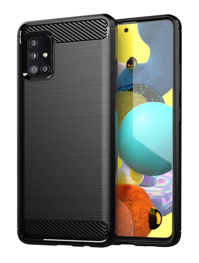 POWERTECH Θήκη Carbon Flex MOB-1544 για Samsung A71 5G, μαύρη - POWERTECH 31837