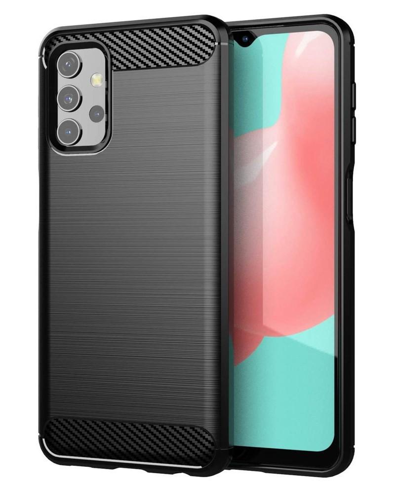 POWERTECH θήκη Carbon Flex MOB-1593 για Samsung Galaxy A32 5G, μαύρη - POWERTECH 37423