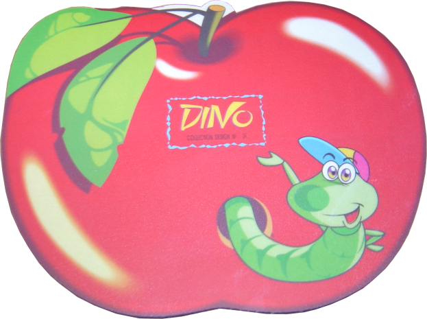 HARD PVC mouse Pad σε σχήμα μήλου με έντομο 230 x 180 x 3mm - UNBRANDED 1525