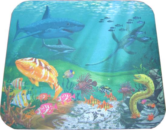 Mouse Pad βυθός θάλασσας με ψάρια, 230 x 180 x 3mm - UNBRANDED 1463