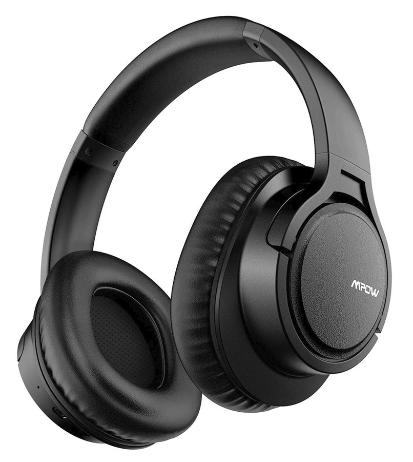 MPOW headphones H7, wireless & wired, 40mm, mic, μαύρα - MPOW 35844