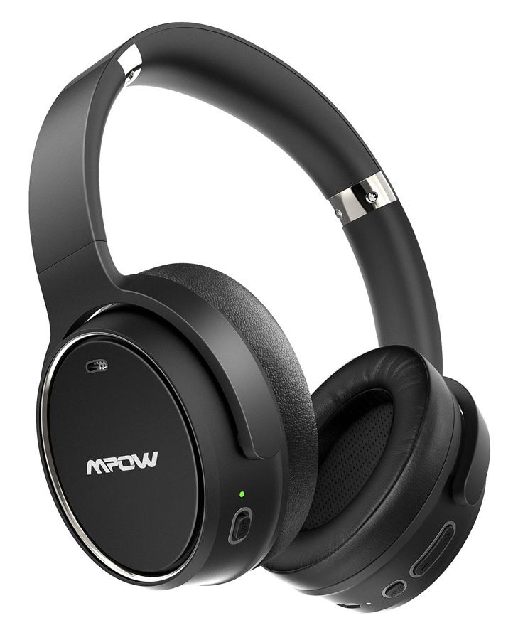 MPOW headphones H19 BH329B, wireless & wired, ANC, BT 5.0, μαύρα - MPOW 42344