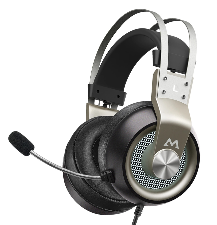 MPOW gaming headset EG3 Pro, multiplatform, 3.5mmm, ασημί - MPOW 35846
