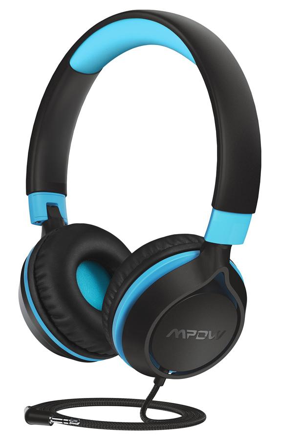 MPOW headphones για παιδιά Che1 BH385A, noise limit, 3.5mm, μαύρο-μπλε - MPOW 42351
