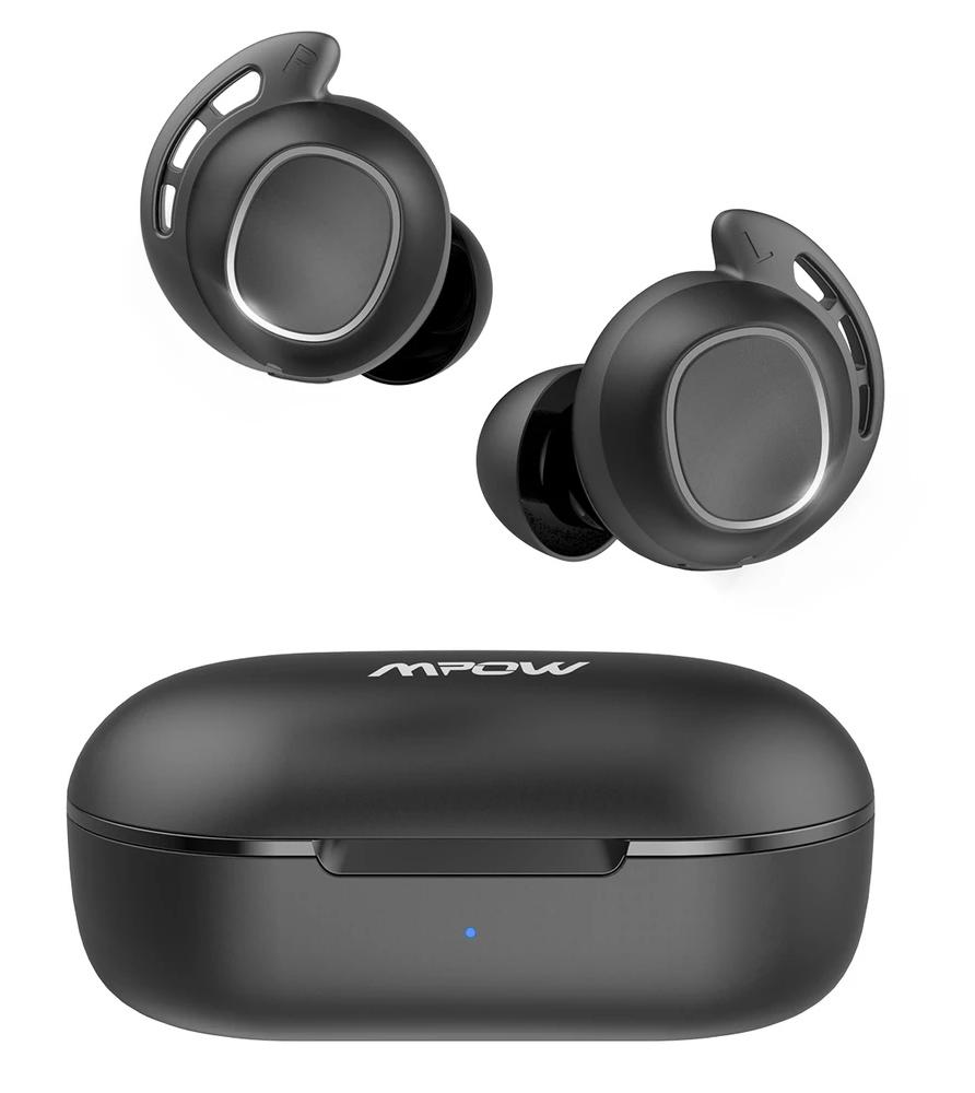 MPOW earphones M30 με θήκη φόρτισης, True Wireless, μαύρα - MPOW 35841