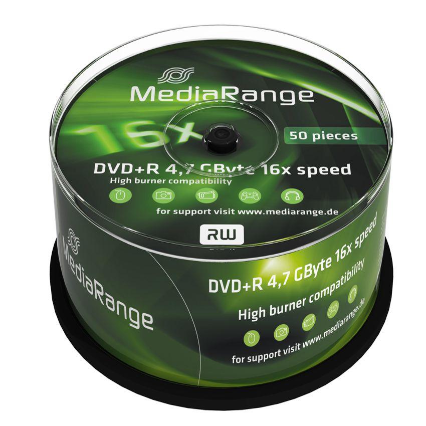 MediaRange DVD + R 4,7 GB 16x Cake50 - MEDIARANGE 2573