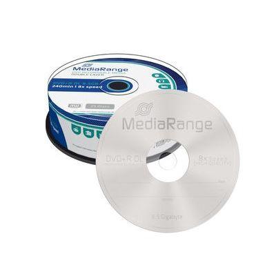 MEDIARANGE DVD+R Double Layer 8.5GB/240min, 8x speed, Cake 25τμχ - MEDIARANGE 15943