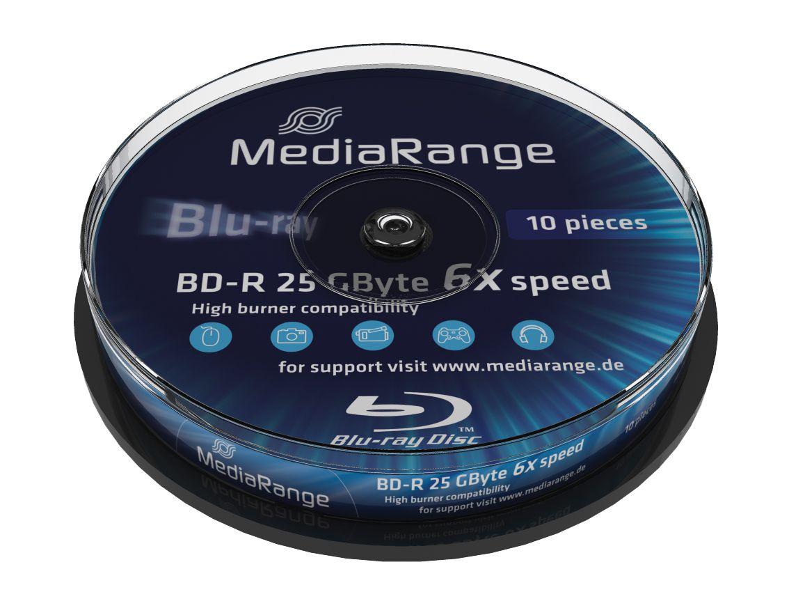 MediaRange BD-R(bluray) 25GB 6x speed, Cake 10 - MEDIARANGE 6011