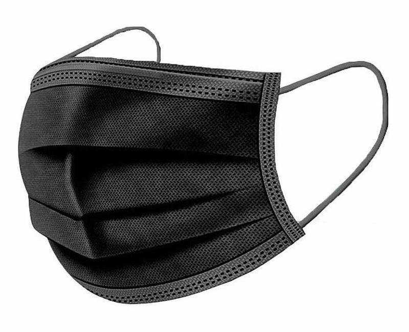 VESTAMED χειρουργική μάσκα 3 στρωμάτων MSK-0011, BFE >98% 10x 5τμχ μαύρη - VESTAMED 37338