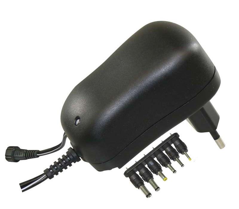 MW επιτοίχιος φορτιστής ρεύματος MW3K10GS, 3-12V, 1000mA, 6 tips - MW 22466