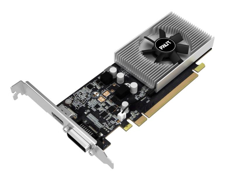 PALIT VGA GeForce GT1030, NE5103000646-1080F, GDDR5 2048MB, 64bit - PALIT 14868