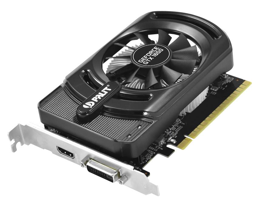 PALIT VGA GeForce GTX 1650 StormX NE51650S06G1-1170F, GDDR5 4GB, OC - PALIT 26688