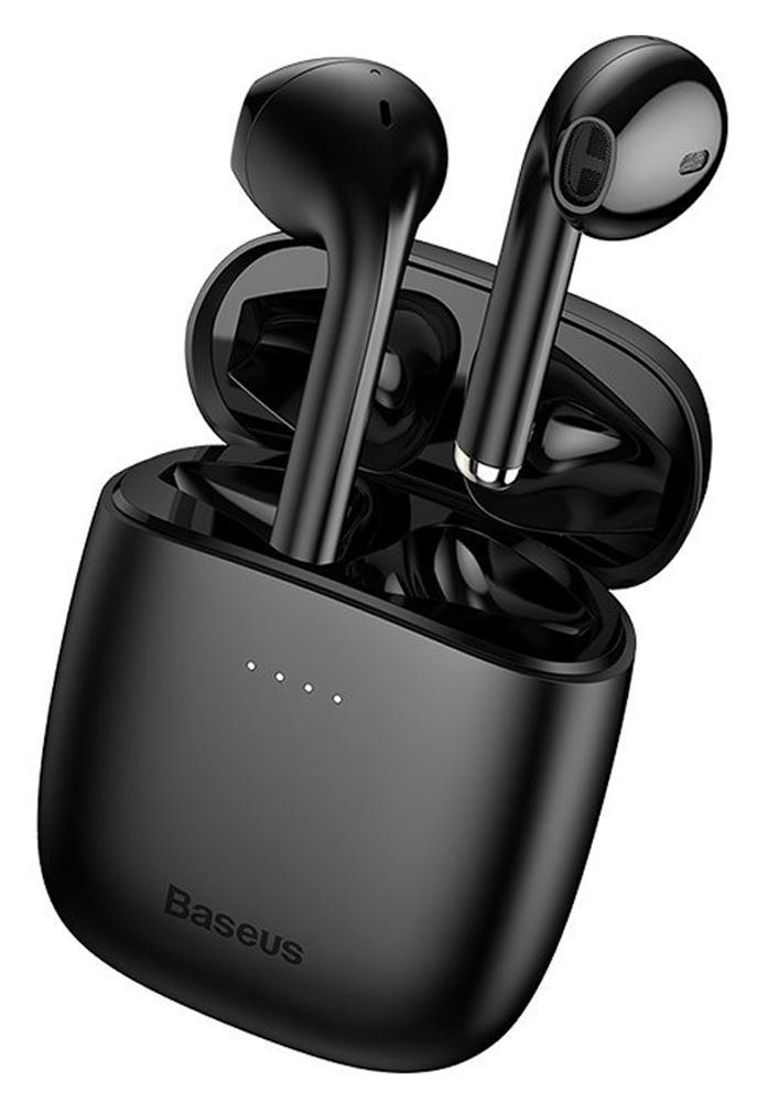 BASEUS earbuds W04 με θήκη φόρτισης, True Wireless, μαύρα - BASEUS 36697