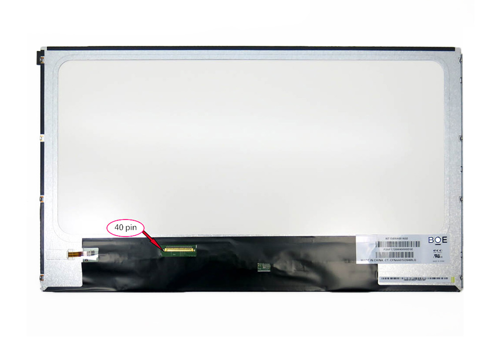 "BOE LED LCD Panel 15.6"" NT156WHM-N50, 40-pin - UNBRANDED 20413"