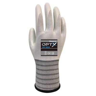 WONDER GRIP αντιολισθητικά γάντια εργασίας Opty, L/9, λευκά - WONDER GRIP 37311
