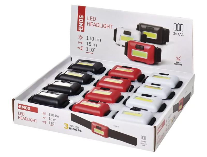 EMOS επιτραπέζιο box stand φακών κεφαλής P3538, 15m, 100m, 12τμχ - EMOS 31843