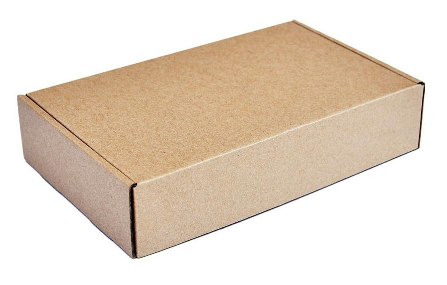 Χαρτοκιβώτιο συσκευασίας PAP-0001, τρίφυλλο, 20x13x3.5cm, καφέ, 50τμχ - UNBRANDED 28266