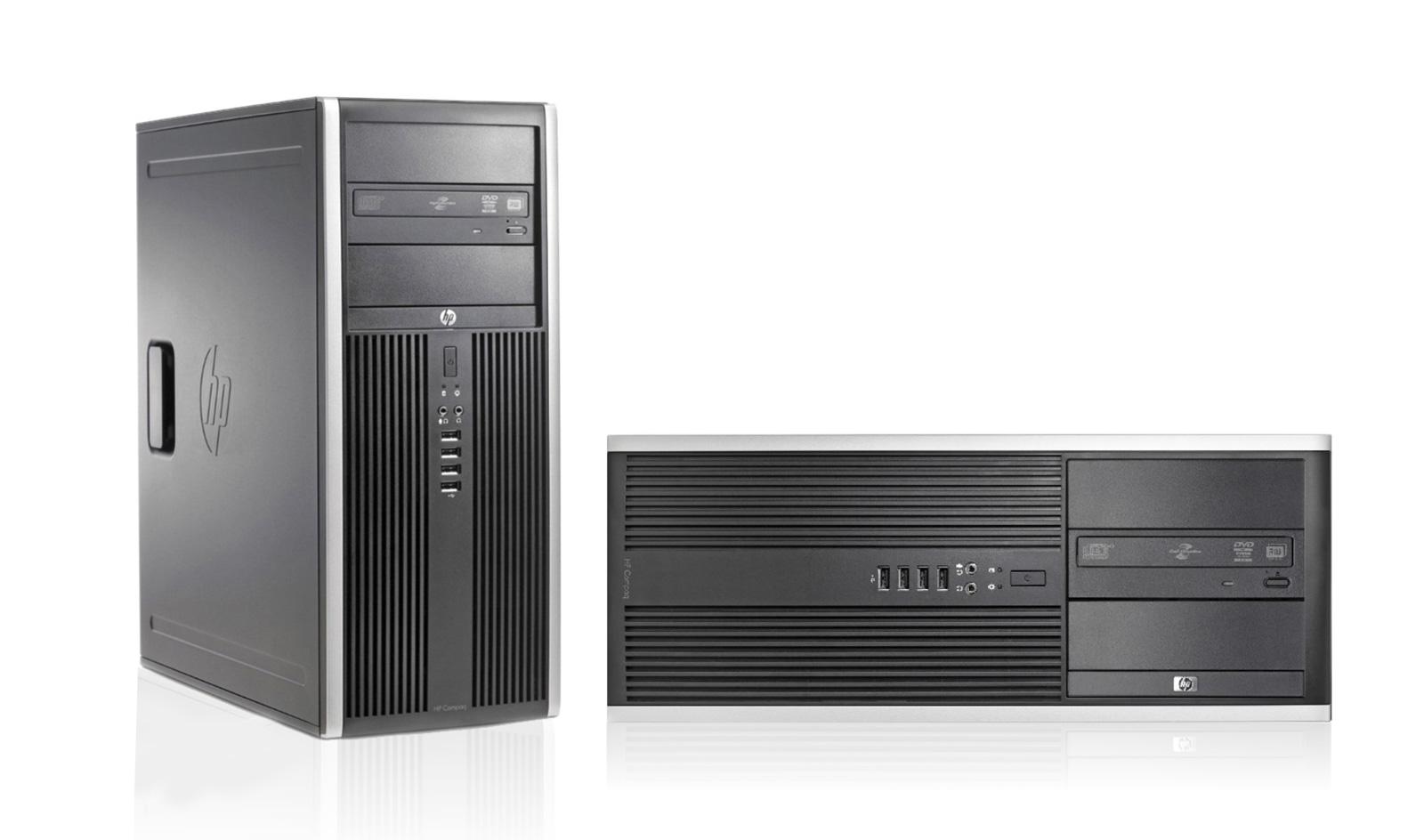 HP PC 8000 CMT, E8400, 4GB, 250GB HDD, DVD, REF SQR - HP 23937