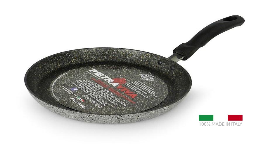 FLONAL Κρεπιέρα αντικολλητική Pietra Viva 25cm, με λαβή βακελίτη - FLONAL 22054