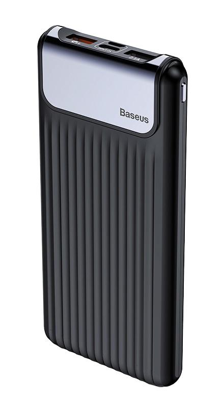 BASEUS power bank PPYZ-C01 10000mAh με οθόνη, 3A, 2x output, μαύρο - BASEUS 25437