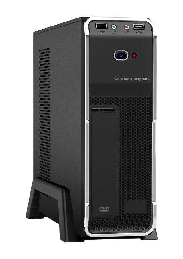 POWERTECH MINI ATX κουτί για PC, 2x USB 3.0V, με τροφοδοτικό 300W - POWERTECH 2748