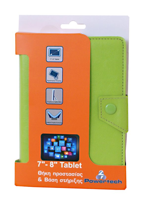 POWERTECH Universal θήκη και βάση για Tablet 7-8 inch, Green - POWERTECH 4591
