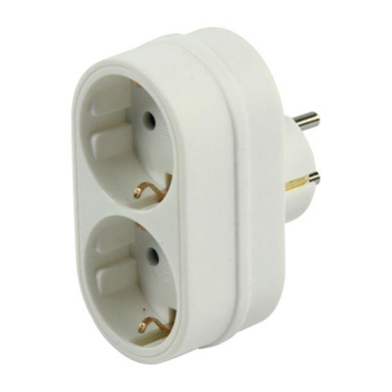POWERTECH adapter ΣΟΥΚΟ(Α) σε 2 ΣΟΥΚΟ (Θ) - POWERTECH 6366