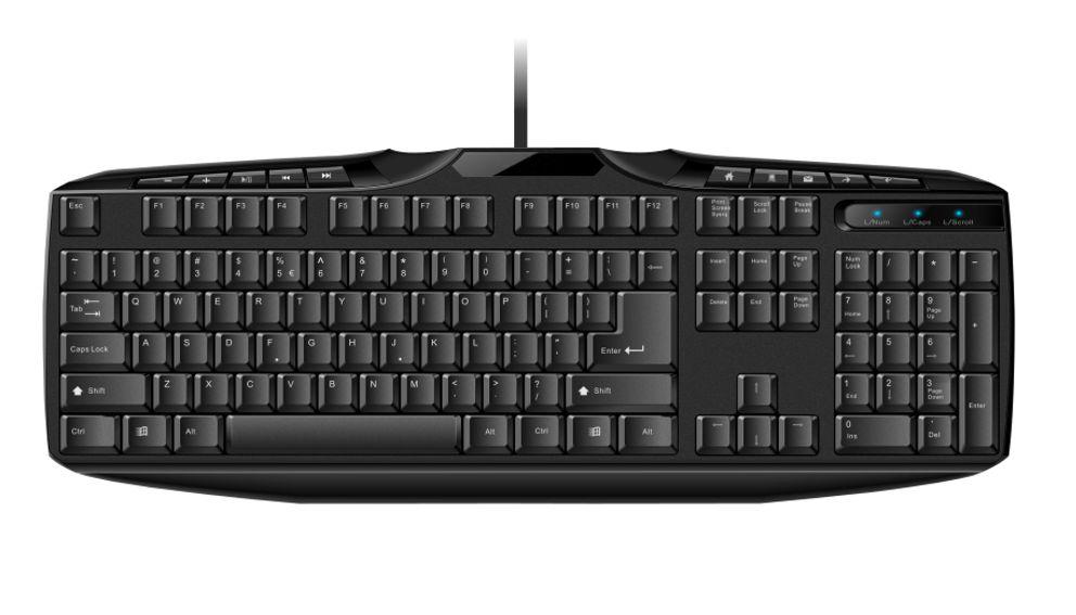 POWERTECH ενσύρματο keyboard - multimedia - POWERTECH 6348