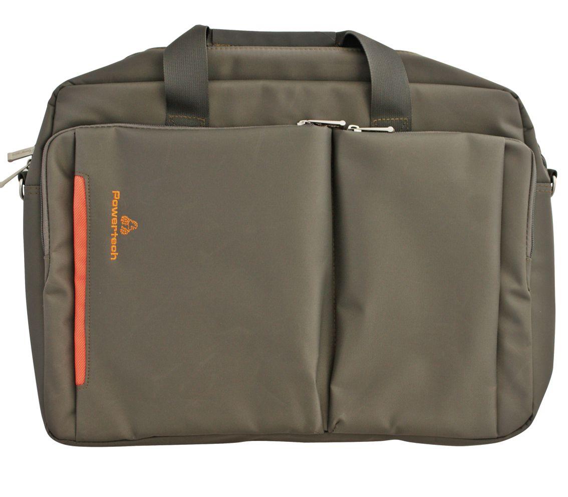 "POWERTECH τσάντα για Laptop, έως 17.3"", Gray - POWERTECH 6725"