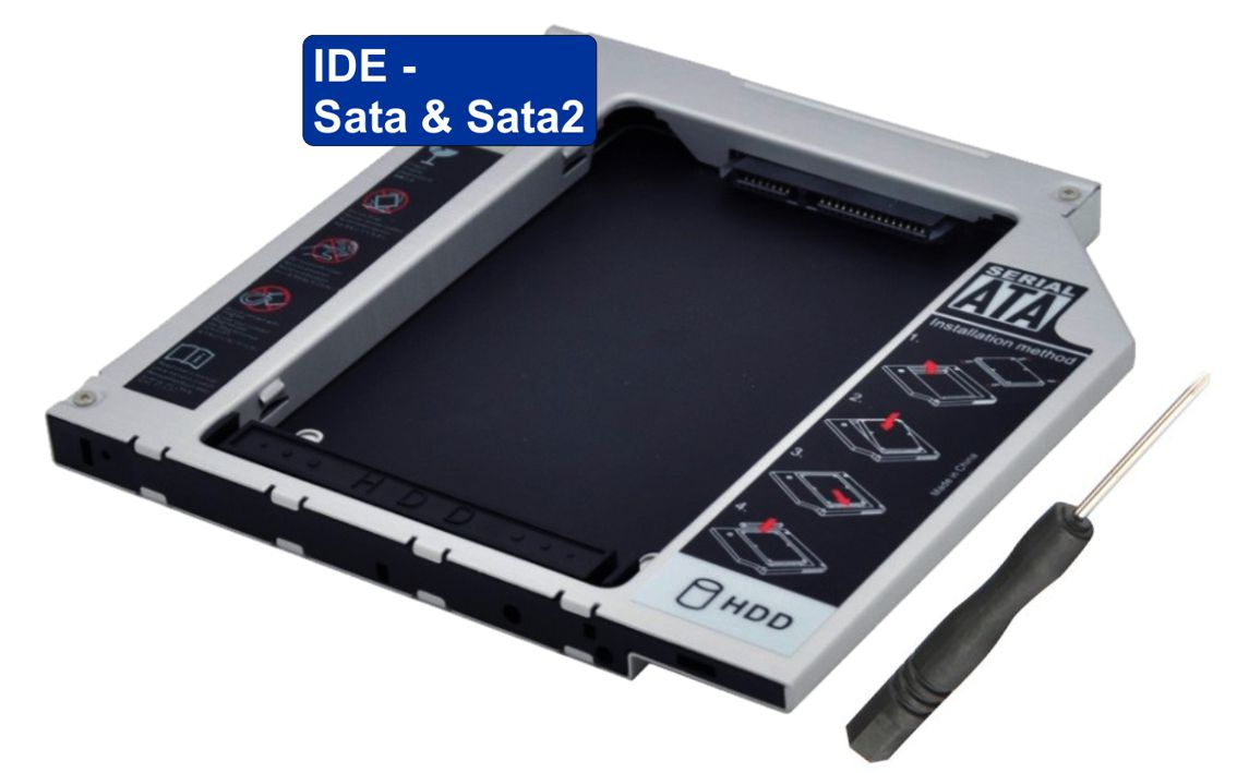 HDD Caddy IDE / Sata & Sata2 2.5inch - 12,7mm - UNBRANDED 6570