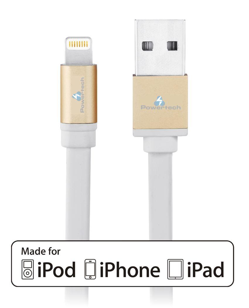 POWERTECH Καλώδιο USB σε Lightning, MFI πιστοποίηση, 1m, Gold - POWERTECH 8070
