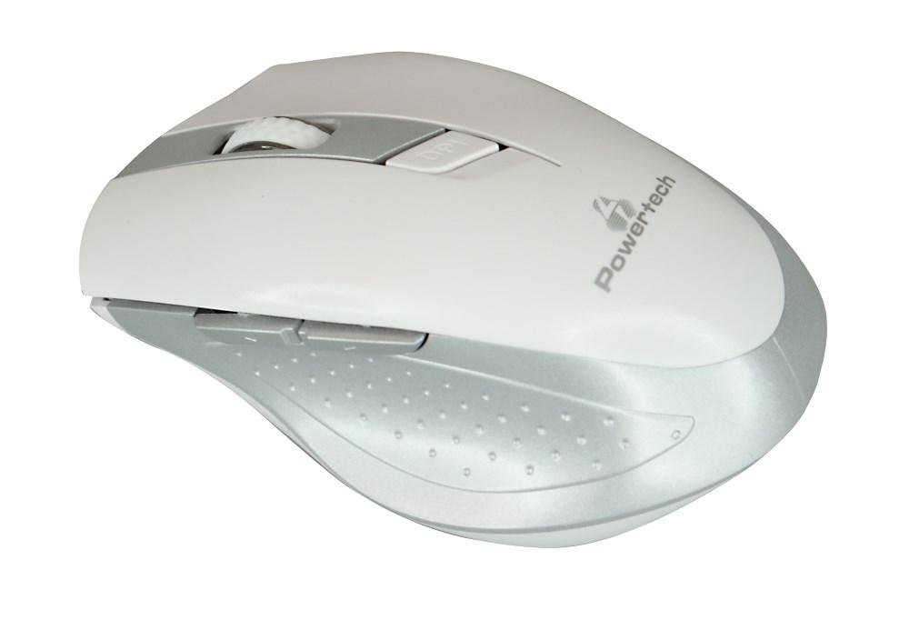 POWERTECH ασύρματο ποντίκι, Οπτικό, 1600 DPI, λευκό-ασημί - POWERTECH 9779