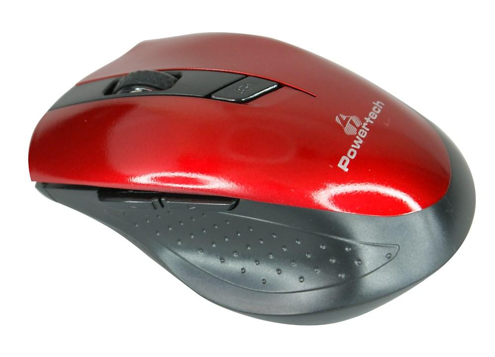 POWERTECH ασύρματο ποντίκι, Οπτικό, 1600 DPI, κόκκινο-μαύρο - POWERTECH 9778
