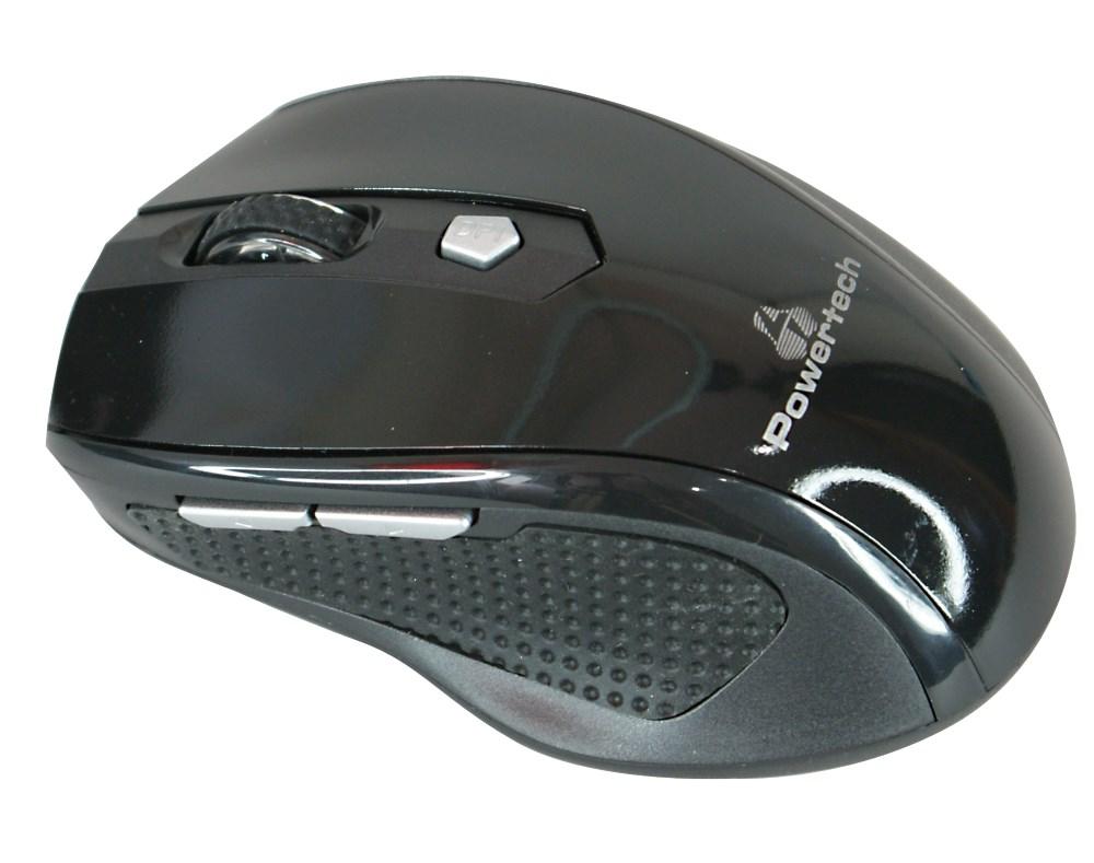POWERTECH ασύρματο ποντίκι, Οπτικό, 1600 DPI, μαύρο - POWERTECH 9777