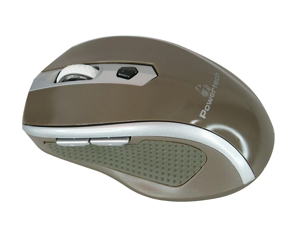 POWERTECH ασύρματο ποντίκι, Οπτικό, 1600 DPI, καφέ - POWERTECH 9776