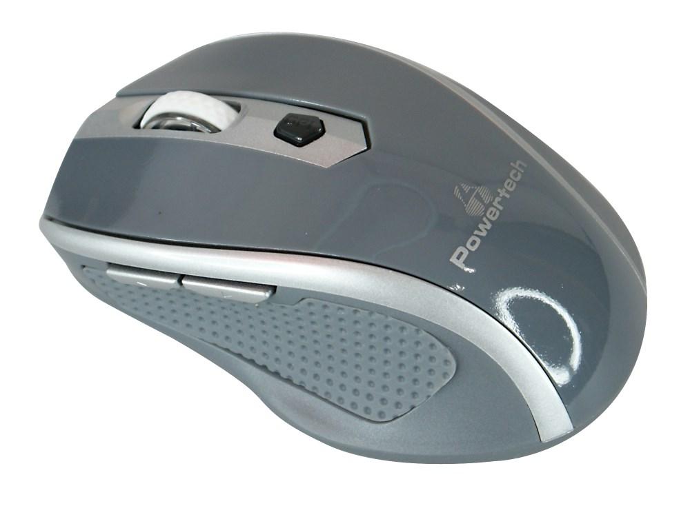 POWERTECH ασύρματο ποντίκι, Οπτικό, 1600 DPI, γκρι - POWERTECH 9774