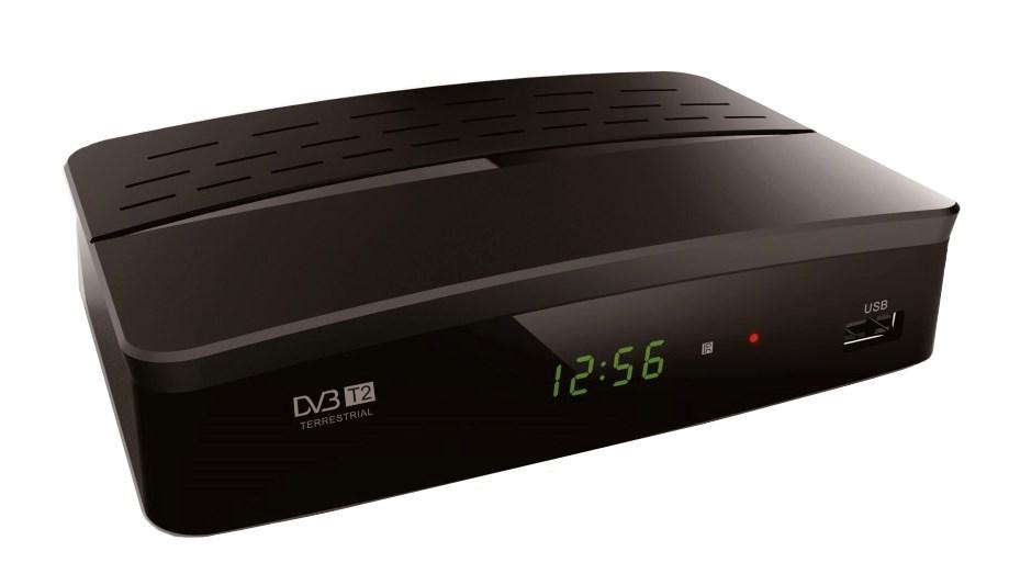 POWERTECH ψηφιακός δέκτης MPEG4, DVB-T2, SCART & HDMI, προγρ. control - POWERTECH 10981
