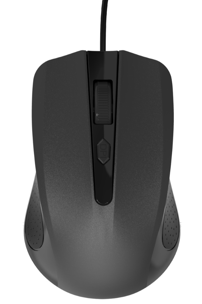 POWERTECH Wired Mouse, Οπτικό, 1200 DPI, μαύρο - POWERTECH 11686